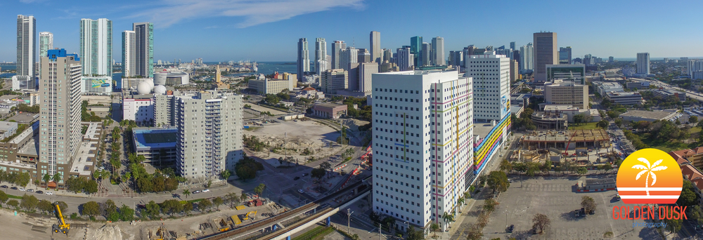 Construction on 3 MiamiCentral and MiamiCentral in Downtown Miami