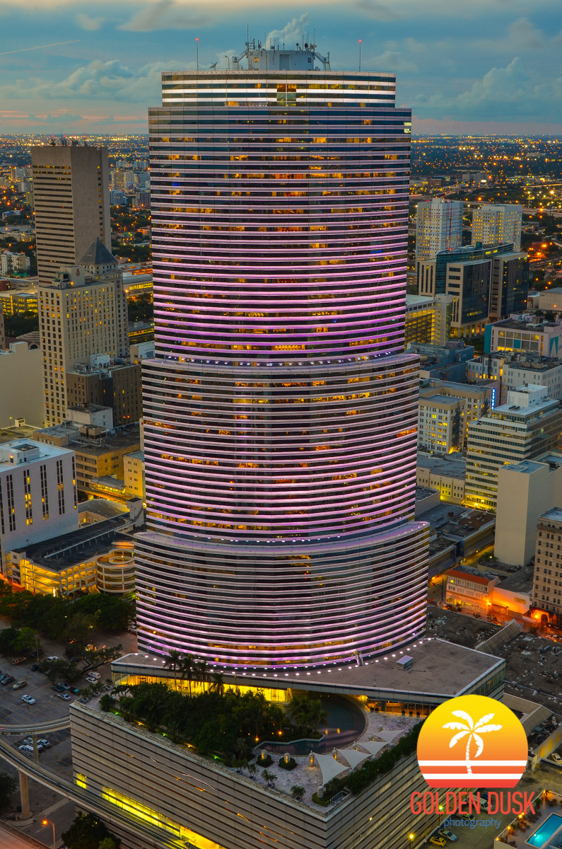 The Lights of The Miami Tower