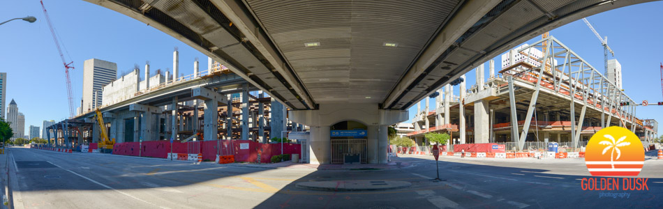 MiamiCentral Station Under the Metromover