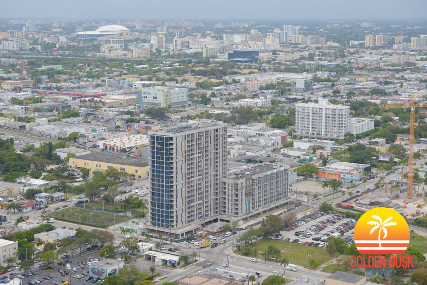 Midtown 29 with Marlins Park in the Distance