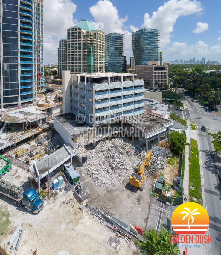 Coconut Grove Bank Being Demolished