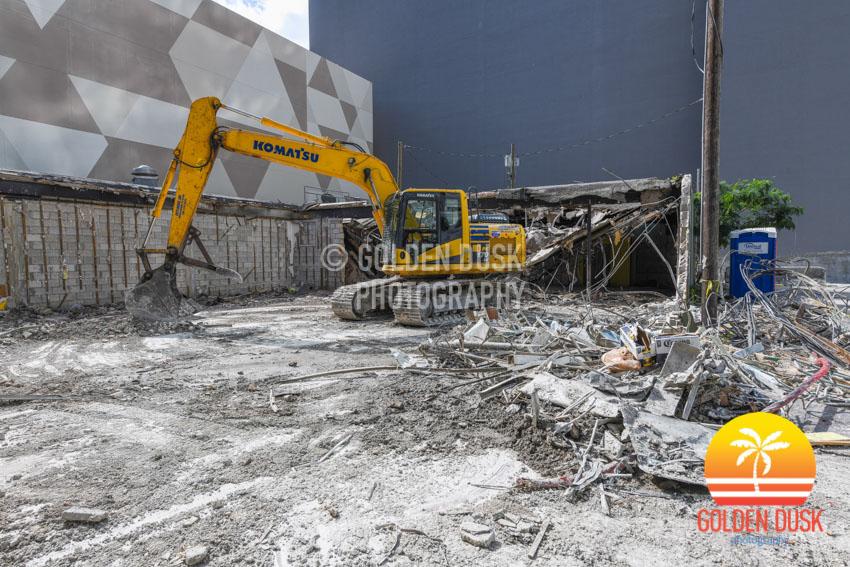 Demolition at 830 Brickell