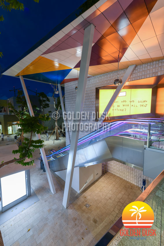 Paradise Plaza at Night - Design District