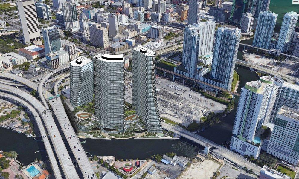Conceptual Plans For Miami Riverside Site