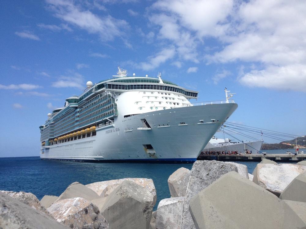 Freedom of the Seas, docked in Philipsburg, St. Maarten.