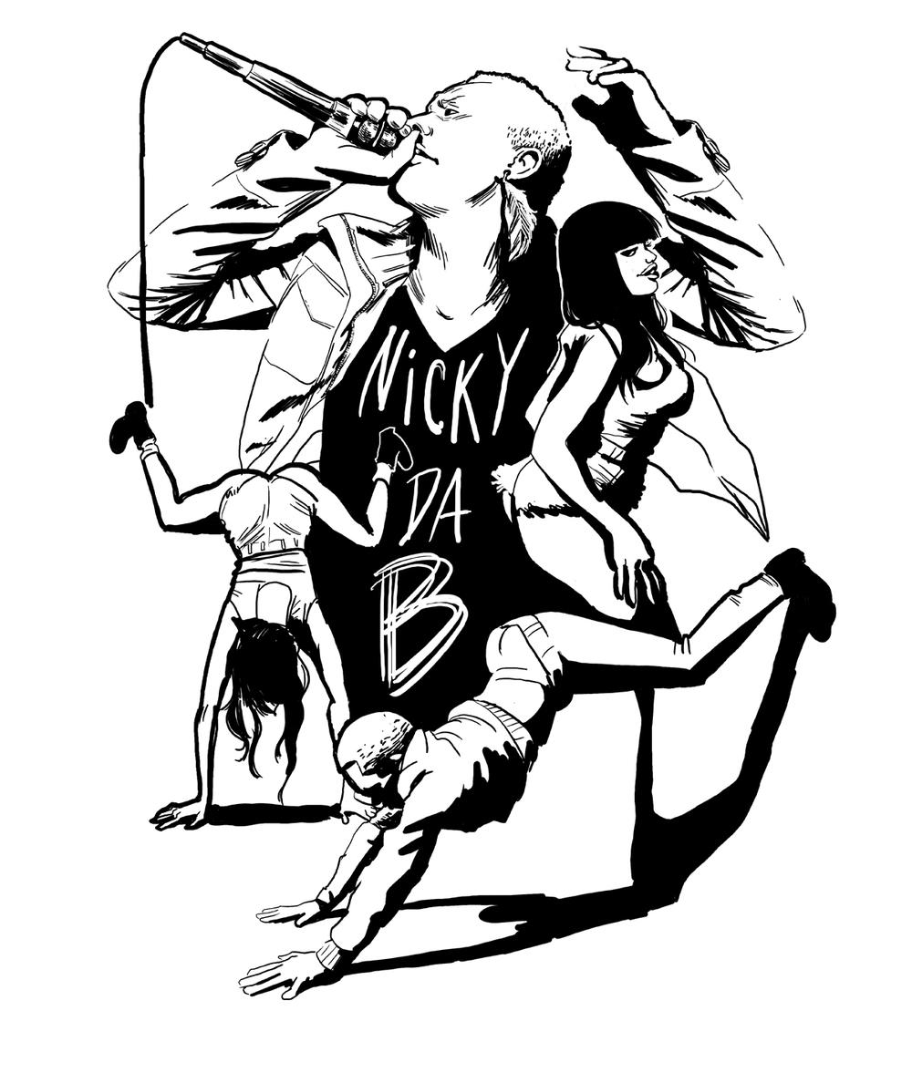 T-shirt design for Nicki Da B