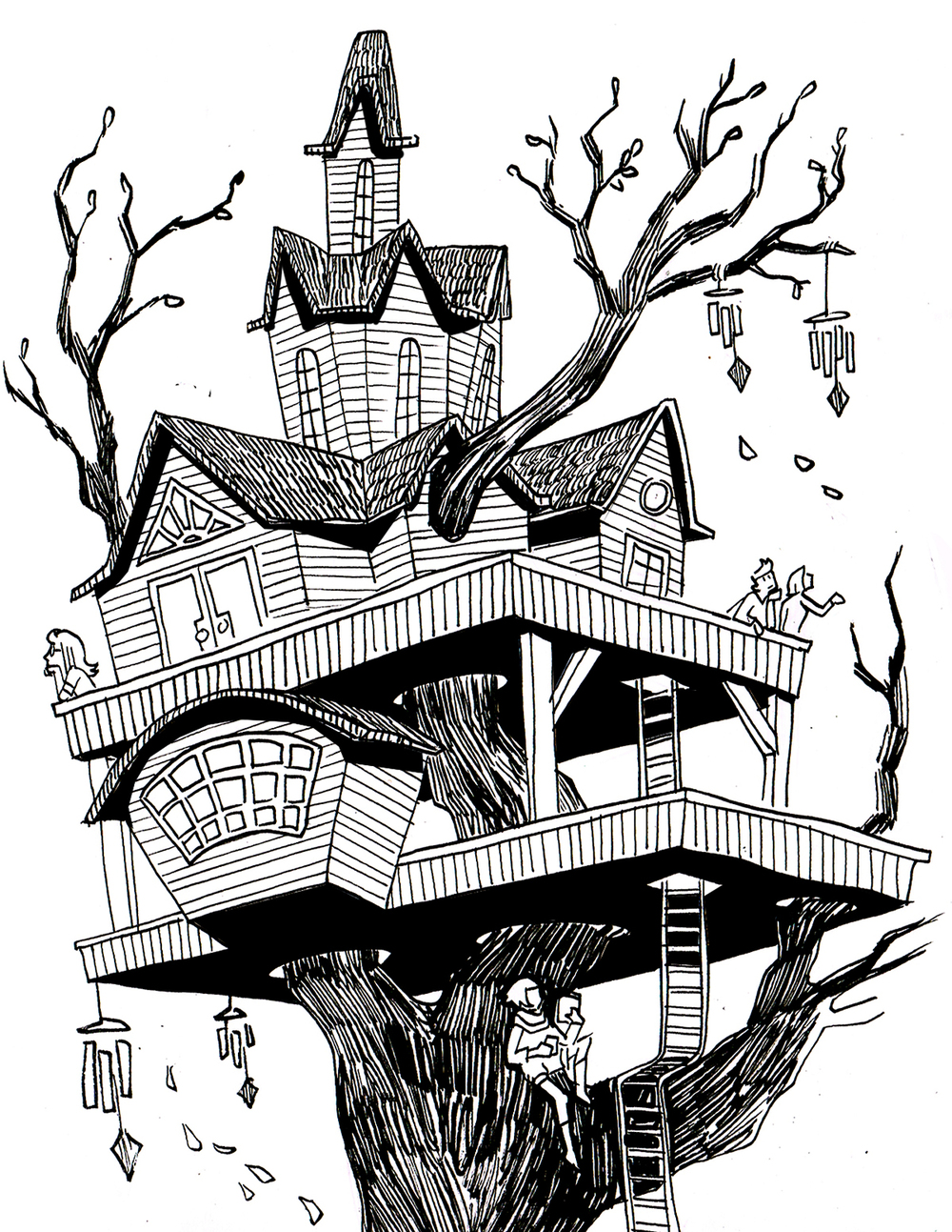 Treehouse Postcard Design