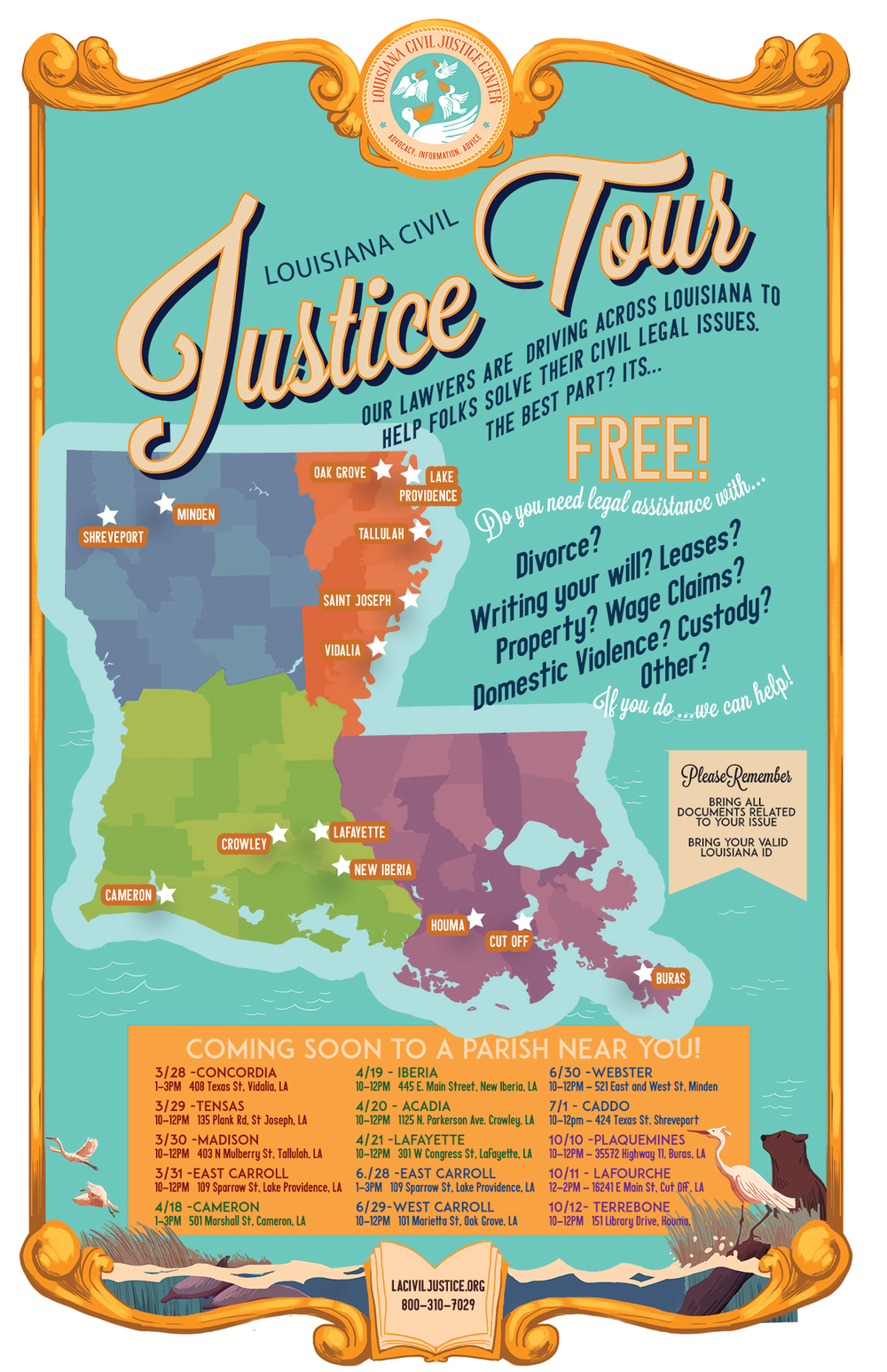 Louisiana Civil Justice Tour Poster
