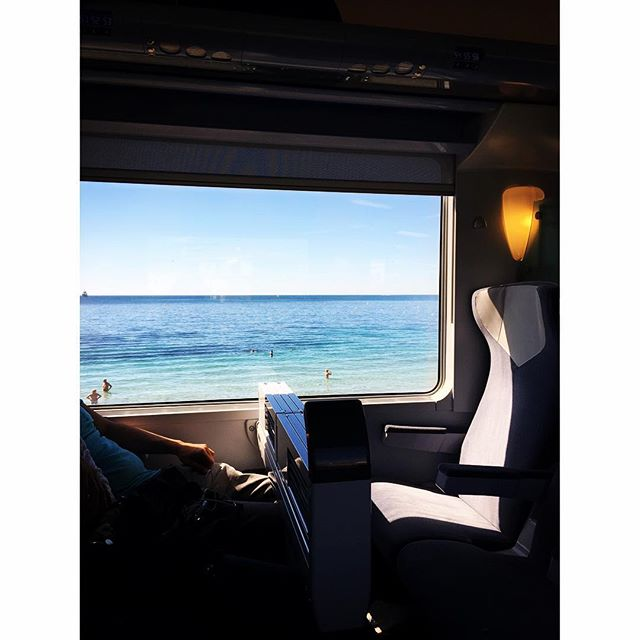 Train outta town.  Heading to the French country now.  Yep, I said train not a boat!  #frenchriviera #cannes #antibes @ericcarbonnier