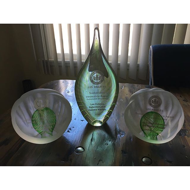 Someone came home with all the Sustainable Innovation Awards last night.  So proud of him.  #greenarchitecture @ericcarbonnier