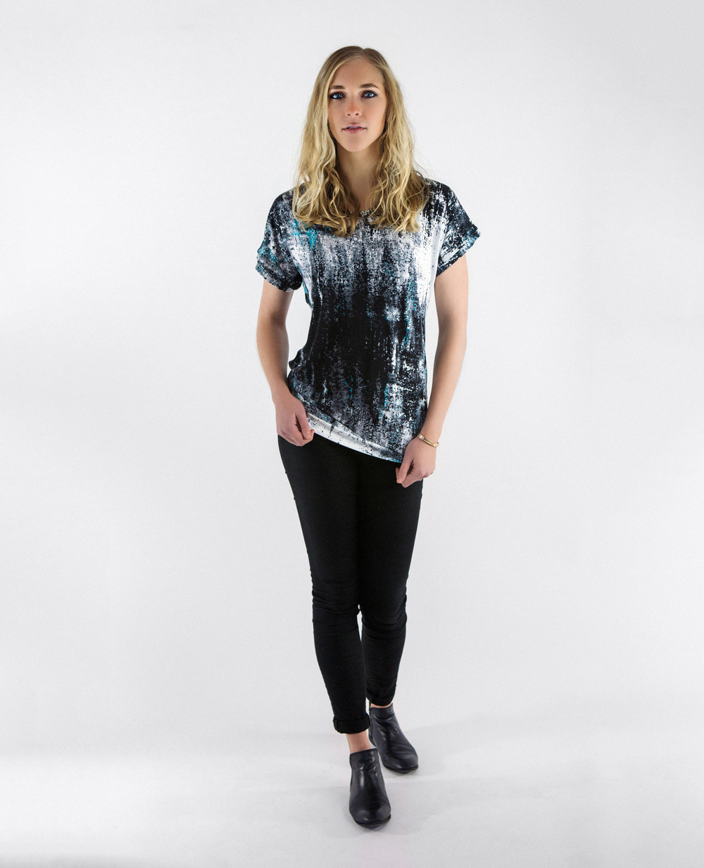 Abstract Boxy Tee