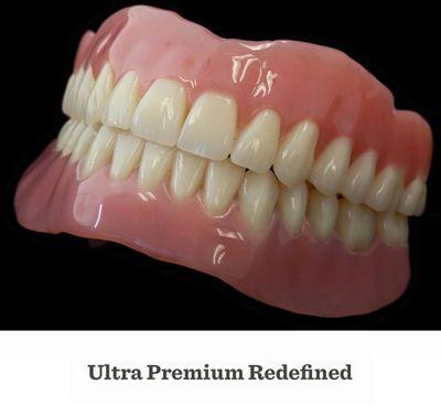 PREMIUM Denture with Upgraded Natural Teeth $899    SUPREME Denture with High Translucency Teeth $1099   Basic Economy Denture $699 (no warranty)