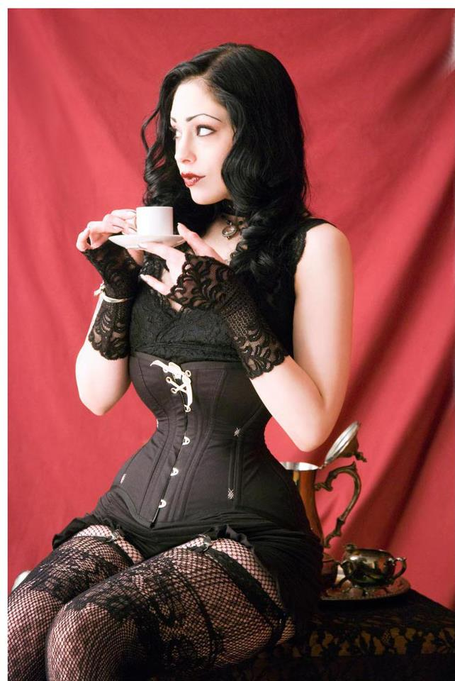 """Ingenue"" corset with semi-custom fit for tightlacer Elisa Berlin. © Jon Bean Hastings"