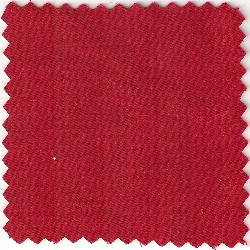 organic cotton sateen - red