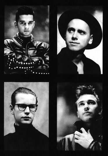 Depeche Mode c. 1988 (Clockwise from Top Left): Dave Gahan, Martin Gore, Alan Wilder, Andy Fletcher