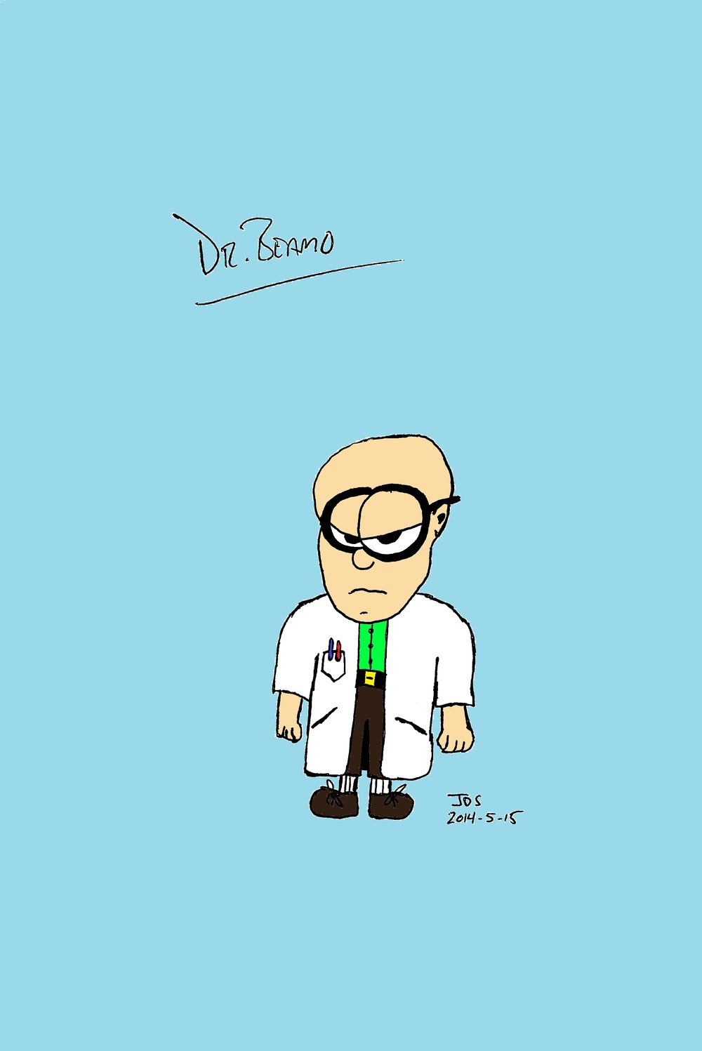 DR. BEAMO - Rogue scientist Dr. Beamo's most obvious physical characteristic is his rather large head. Be careful, though, that cranium holds a devious mind that could pave the way to Sugar Cain conquering the world.