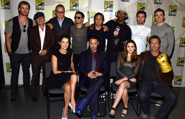 Most  of the  Avengers: Age of Ultron  cast at San Diego Comic Con