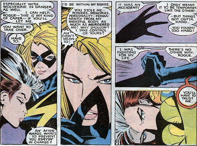 For a while, Carol Danvers only existed in Rogue's mind. The first time the X-Men went to Genosha, Carol had to get in the driver's seat.