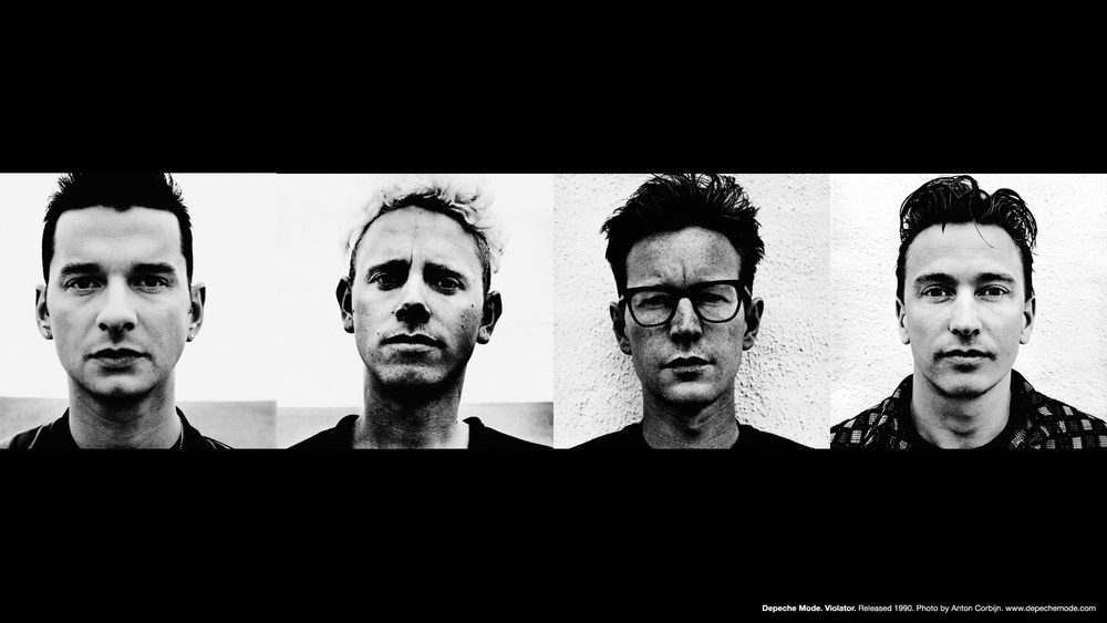 From Left: Dave Gahan, Martin Gore, Andy Fletcher, Alan Wilder  Image via DepecheMode.com
