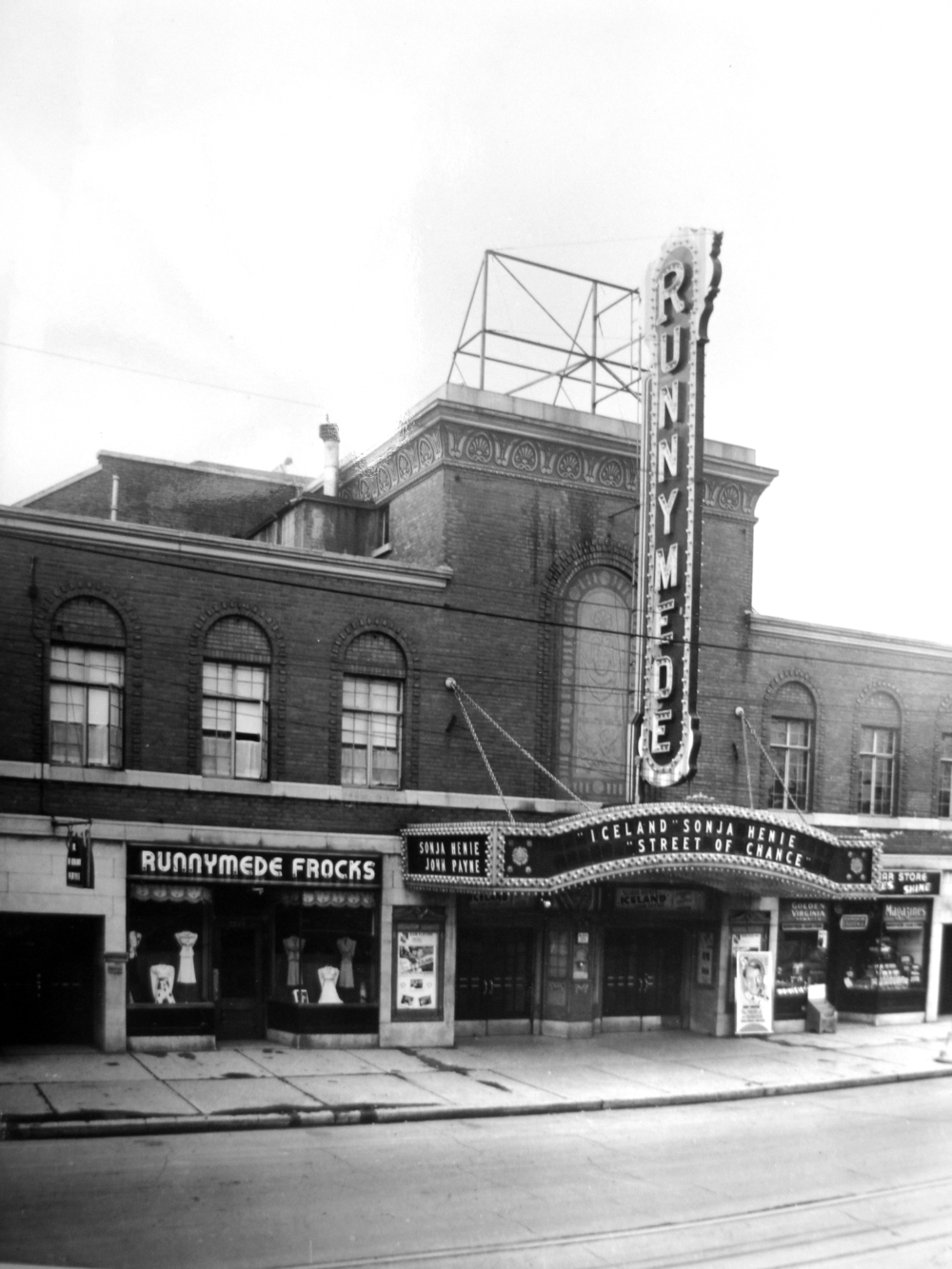 Runnymede Theatre, 1930s. City of Toronto Archives, Series 1278, File 147.