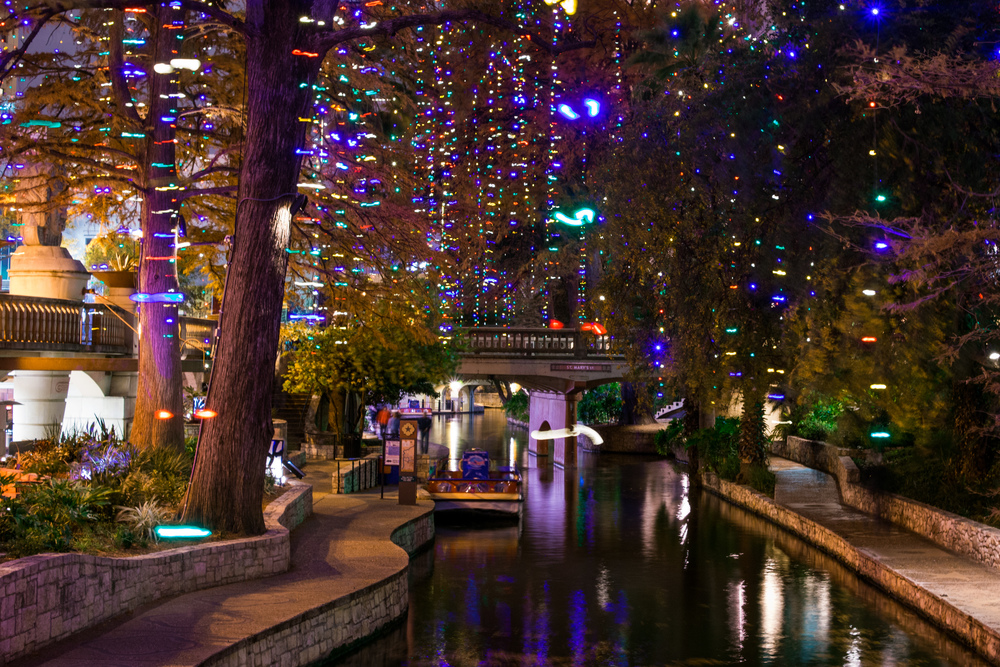San Antonio River Walk, one of the romantic spots we hope to see on our tour