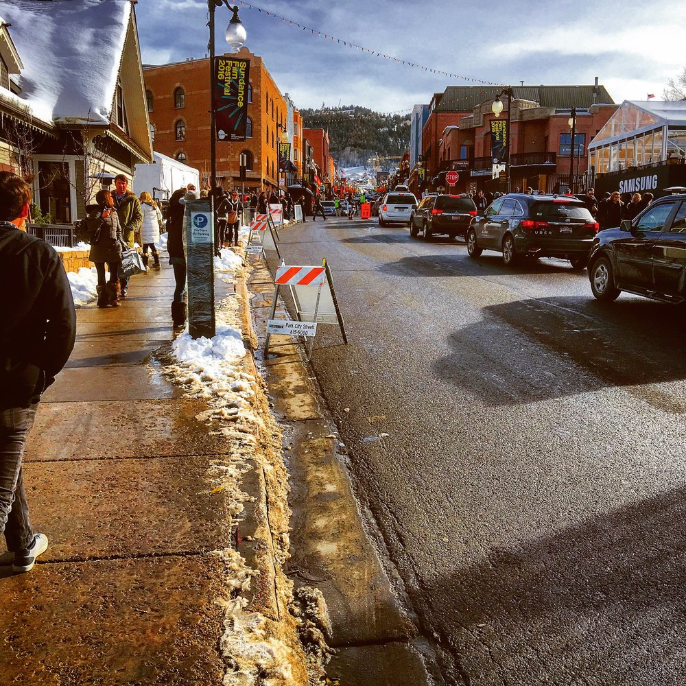 The Sundance Film Festival Main Street in full swing.