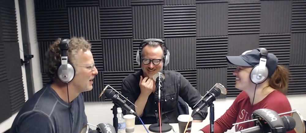 Doug and Teresa Wyckoff with Ben Kronberg on the Around the World with The He & She Show