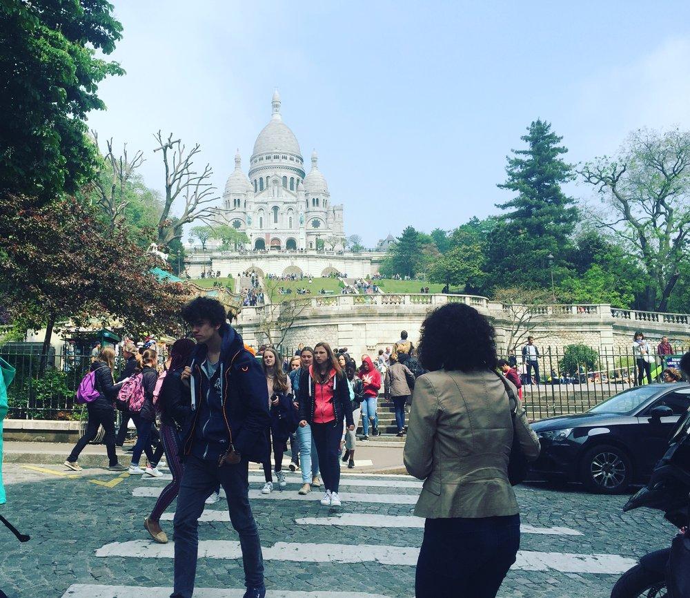 Sacre Coeur and tourists
