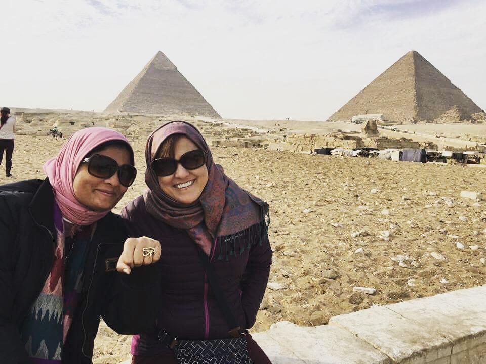 Teresa with Egyptologist         Heba A Amer