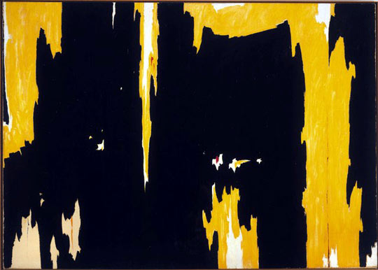 Clyfford Still, 1957-D No. 1, 1957, Oil on canvas, 113 x 159 in, Albright-Knox Art Gallery