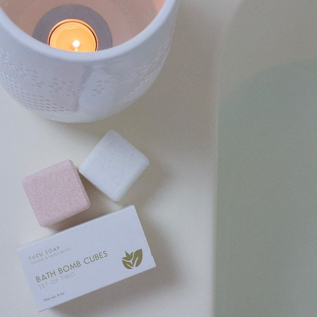 Enjoying some new samples from @yuzusoap this evening!  These all natural bath bombs are the best! We will definitely be carrying these in the near future! #hickorync #yeahthatgreenville #charlotte #slowliving #slowlife #bathtime