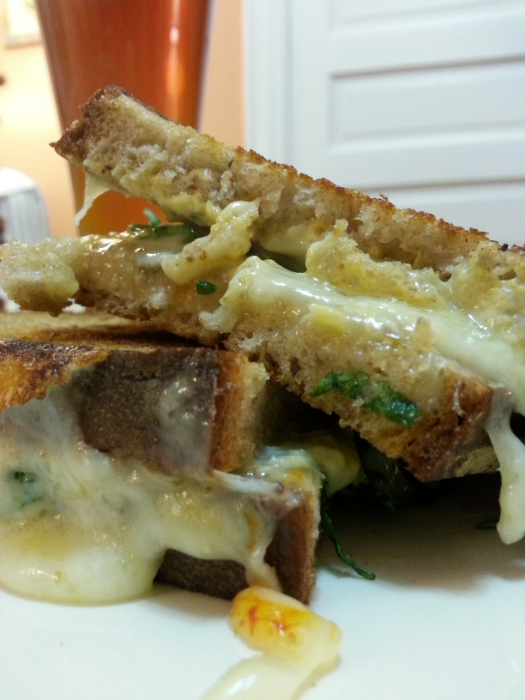 This delectable grilled cheese was borne out of what happened to be in my kitchen at the time.