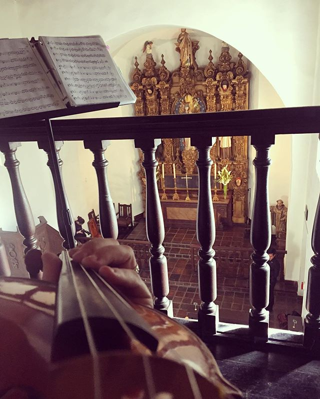 My view from the balcony for Michelle & Brian's wedding. I love the acoustics in this hidden chapel. 🎻 #sandiegoweddingmusic #violin #balboapark #weddingmusician #sandiegowedding #musicbyheidi
