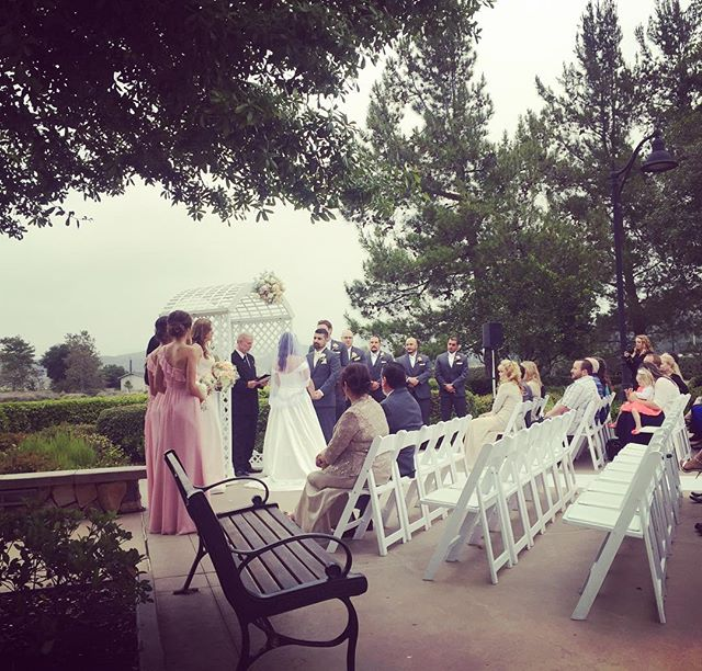 A cool, misty afternoon for this pretty wedding. Congratulations, Tannia & Anthony! #musicbyheidi #sandiegowedding #violin #cello #barona