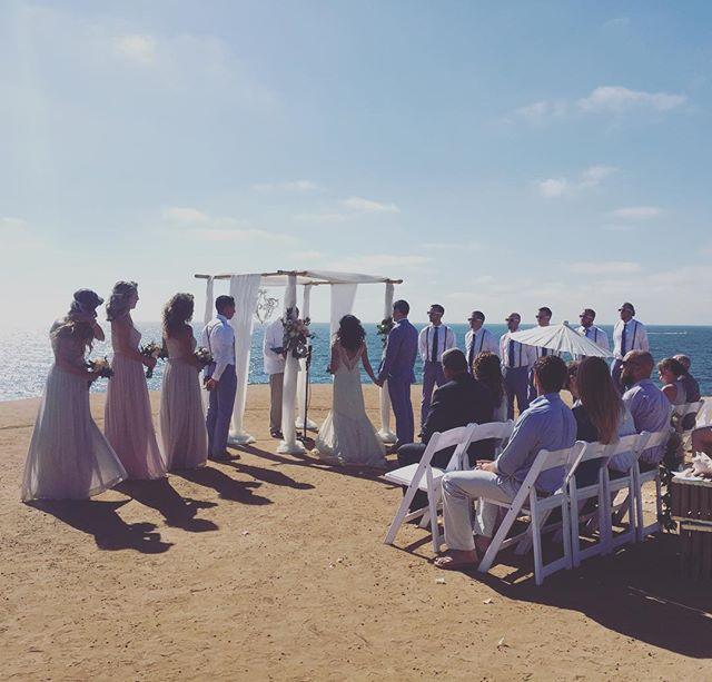 Wedding ceremony at Sunset Cliffs #sandiegoweddingmusic #sandiegowedding #musicbyheidi #violin #cello