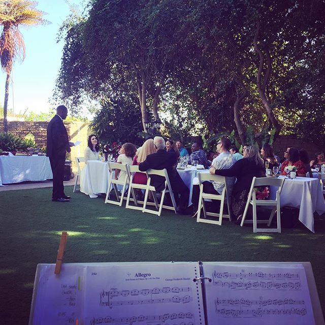 This groom gave what was probably the sweetest toast ever to his bride, his family, and their guests! Courtney and Harvie had an intimate garden wedding at the San Diego Botanical Garden in Encinitas. So many special and tender moments this afternoon! 💕#sandiegoweddingmusic #sandiegowedding #musicbyheidi #sandiegobotanicalgarden