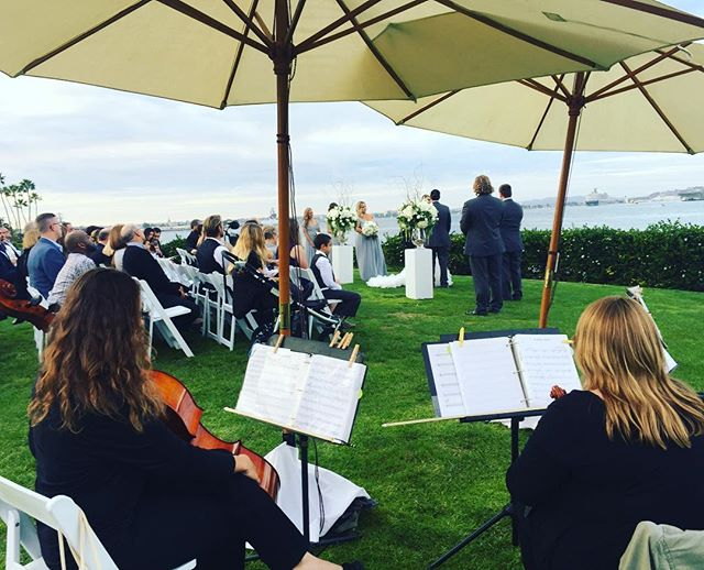 Congratulations Reagan & Patrick! What a great way to wrap up this year of weddings. Thanks to all my amazing clients for a fantastic 2016!! ❤️ #sandiegoweddingmusic #musicbyheidi #sandiegowedding #coronadowedding #stringquartet
