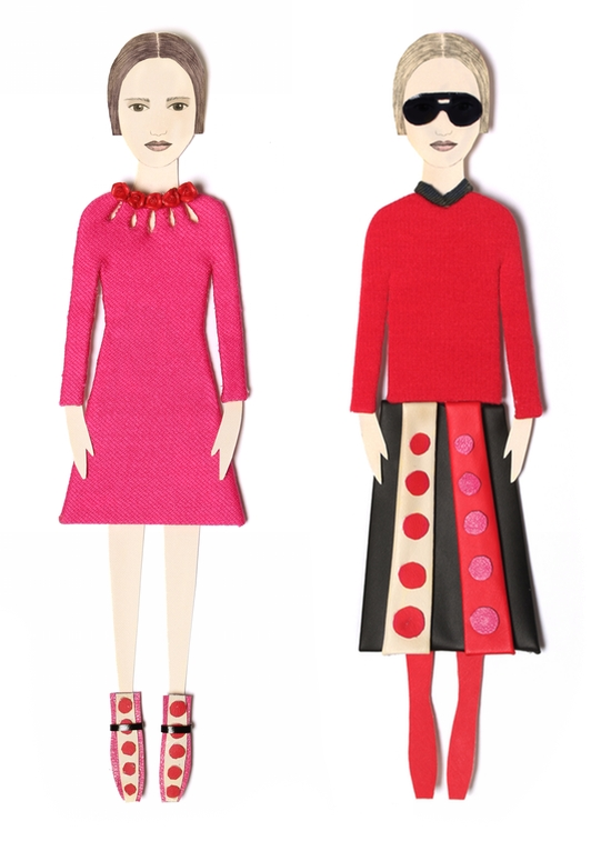 Valentino F'14 Looks 8, 6                                   commissioned by Barneys New York