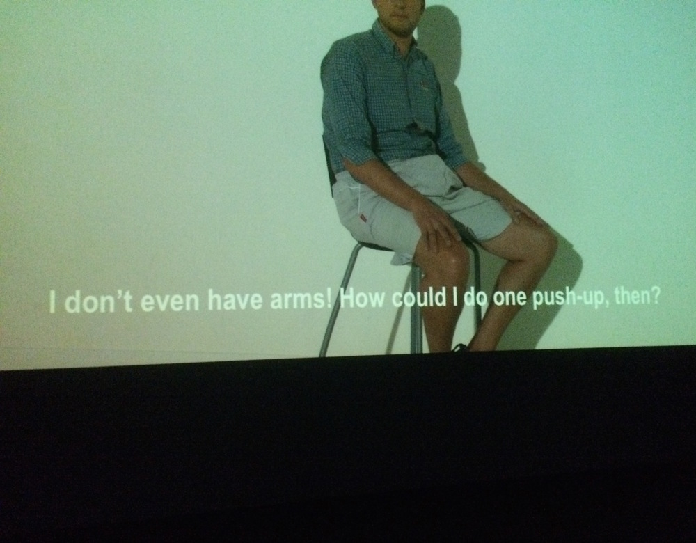 "screenshot of ""A FILM BY JOS DE GRUYTER & HARALD THYS"", MoMA PS1"