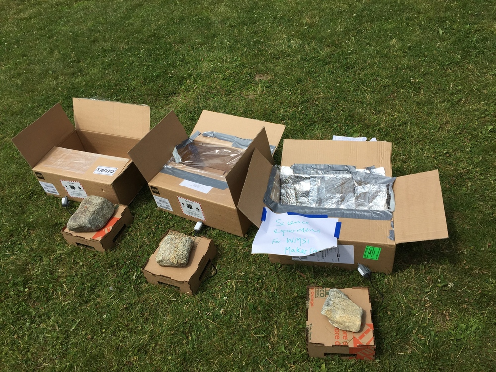 Solar Oven:   Hot, sunny day outside? Don't sweat it. Cook yourself some delicious treats by channeling that sweet, summer sunlight.