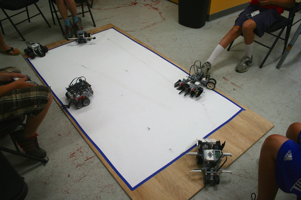 Sumo Bots:   Recreate the well-known competition that every avid robotics fan can relate to: sumo bots.