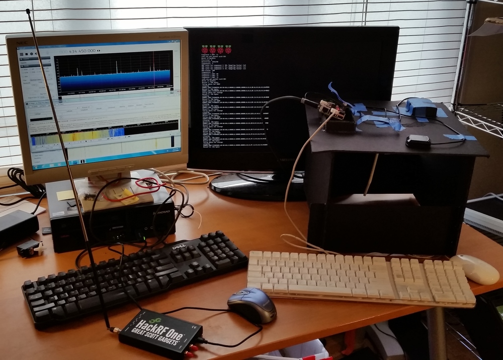 The ground control setup with the Pi in the Sky running
