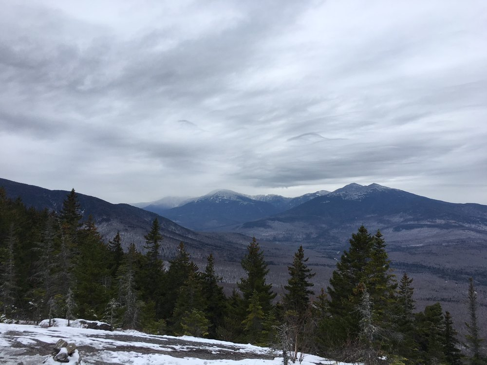 The Presidential Range of the White Mountains underneath distinctive  Undulatus Asperatus  clouds.