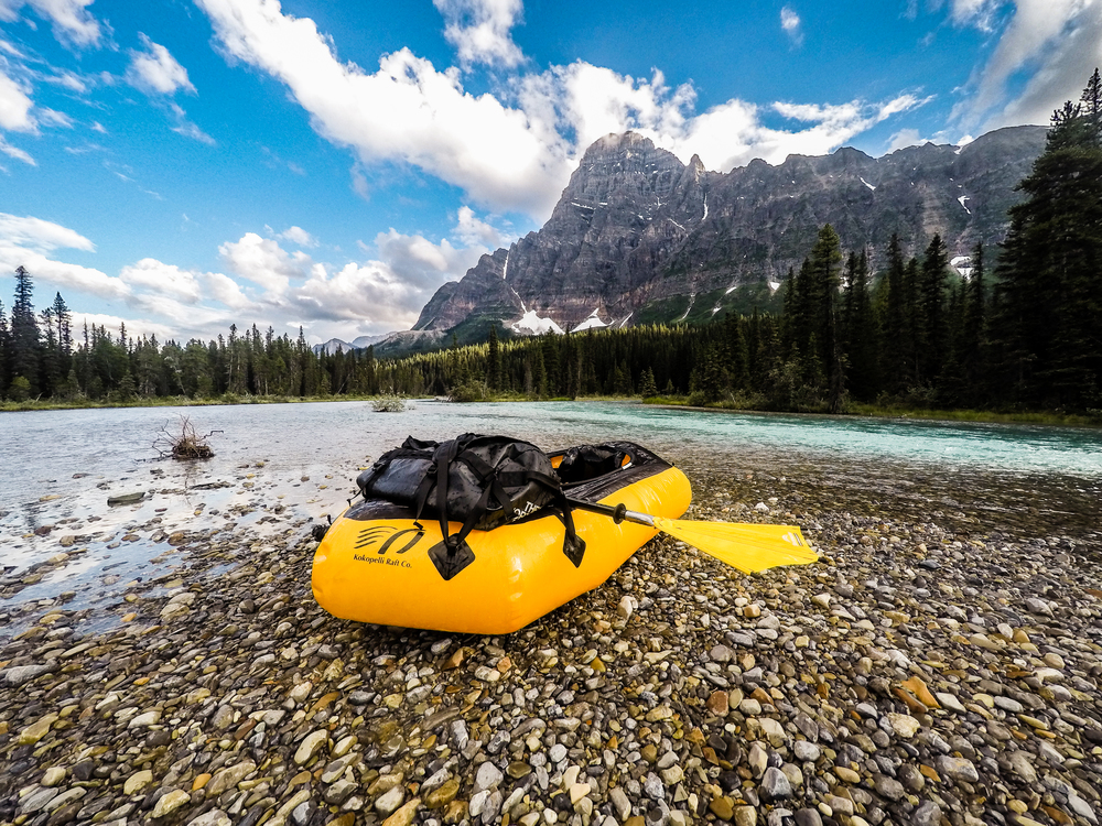 @PhotoJBartlett taking a break off the Mistaya River in Banff National Park