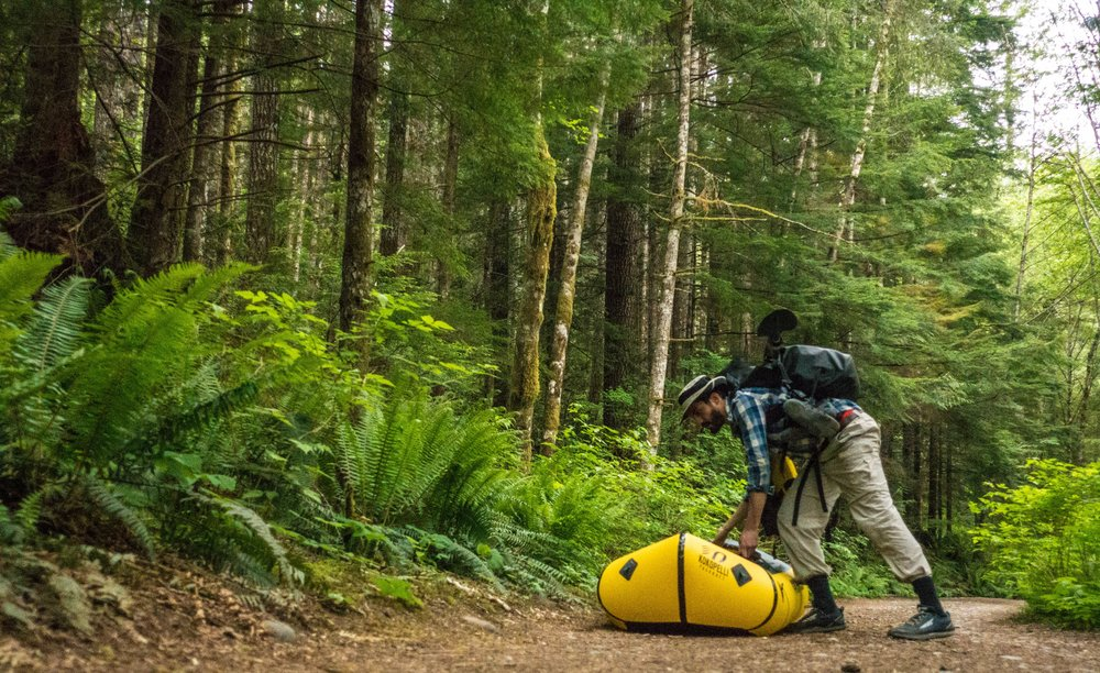 Portaging the Sayward Canoe Route, a 3-day portaging trip on Public Land.