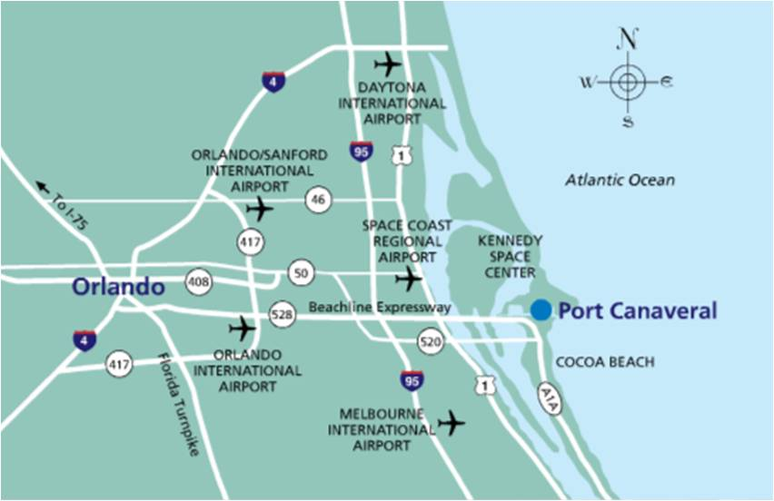 Directions - Port Canaveral — Fun As on