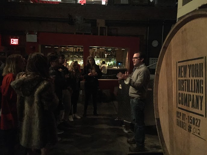 Allen Katz, founder of NY Distilling Co. giving a distillery tour and tasting of his in-house made spirits.