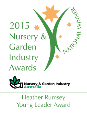 Chantal Tenace director of Garden Soirée, is the 2015 National Winner of the Nursery and Garden Industry Australia Heather Rumsey Young Leader Award.