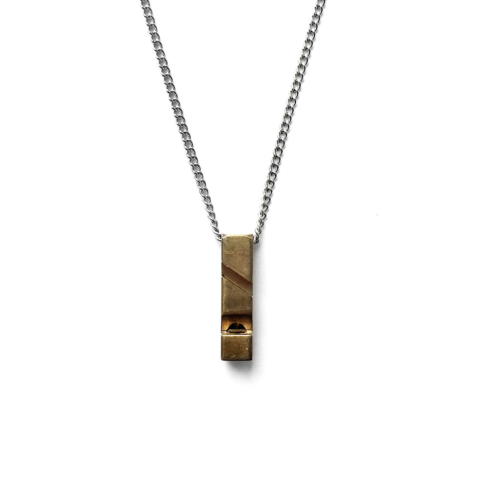 Brass Whistle Necklace