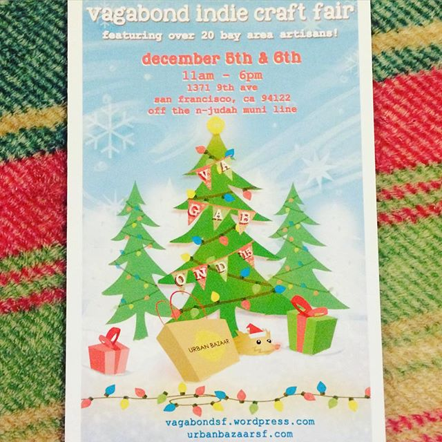 eeeeeek!  it's #thatmostwonderfultimeoftheyear  when we have our #annual #vagabondindiecraftfair!! this weekend, saturday and sunday, from 11am-6pm.  don your #uglysweaters and come and get your #holiday shopping #wrappedup! 🎁  speaking of #wrapped, we will have #FREE giftwrapping both days, for any purchases made at the fair and in-store!  seriously.  we're here for you and to help make your life as stress-free as we can, during this craziest time of the year!  AAAND, we have some events planned for saturday, including a #diycrafts table and #liveart, by the aMAZingly #talented, @nidhiart!  can't wait to see you here, this weekend!  #itsthemostwonderfultimeoftheyear #cantwait #holidays, #shopping2015 #sf #sanfrancisco #vagabond #urbanbazaarsf #outside #fingerscrossedfornorain #craftfair #shoplocal #shopsmalll #madeinusa #madeinsf #madeinthebayarea